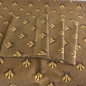 4pcs Bug Fabric Brown & Yellow